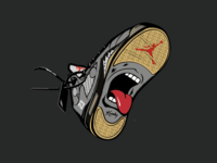 Off White x Jordan 5 tongue nba basketball sports graphic  design vector illustration sneakers off white air jordan jordan nike