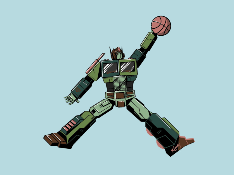 Air Prime - Atmos autobot robot basketball atmos sneakers transformers optimus prime vector illustration graphic  design