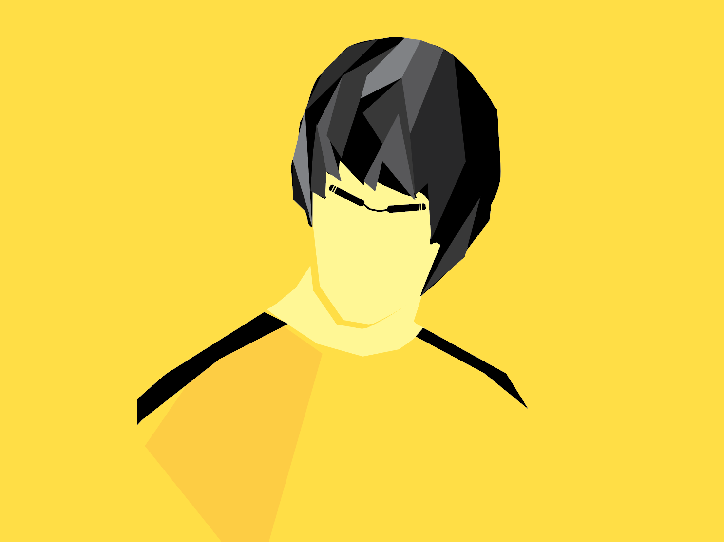 Bruce Lee - Portrait yellow polygon bruce lee flat design portrait faces icon character illustration 2d minimal vector graphic  design