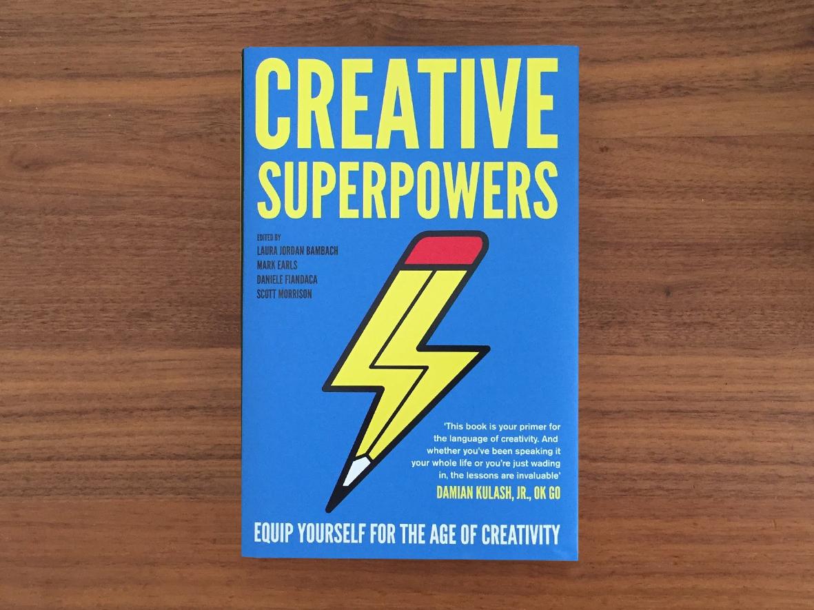 Creative Superpowers - Book Cover Design super book cover branding logo clean icon flat vector 2d design minimal graphic  design