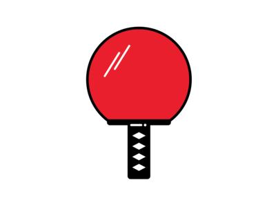 Samurai Ping Pong Bat