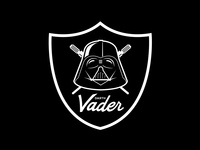 Darth Vader x Raiders Logo