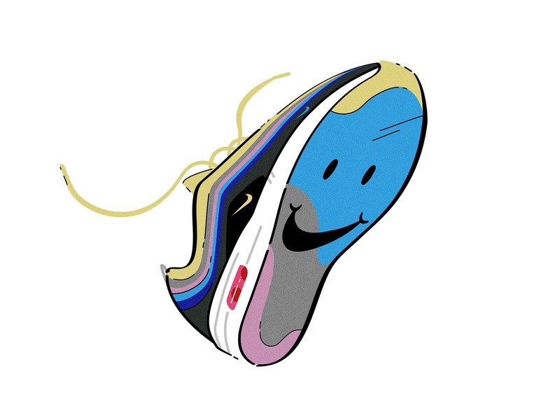 Nike Air Max 1/97 x Sean Wotherspoon Sneaker air jordan happy icon shoe design nike air max nike sneaker sneakers sneakerhead 2d vector illustration graphic  design