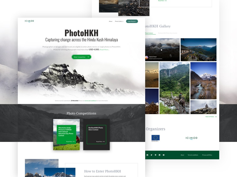 PhotoHKH - Homepage competition mountain interface simple clean website web ux ui design homepage