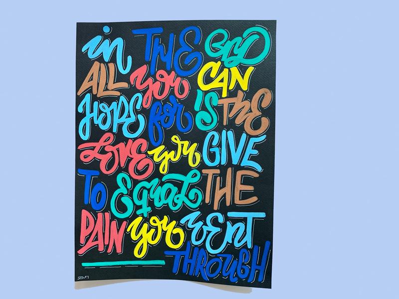 Calligraffiti handmade illustration hand-lettering typography lettering paint pen posca