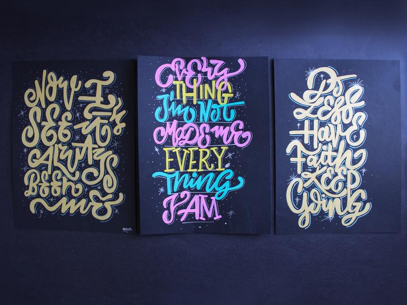Paint Sketches illustration hand-lettering typography lettering calligraffiti paint ben posca pen posca
