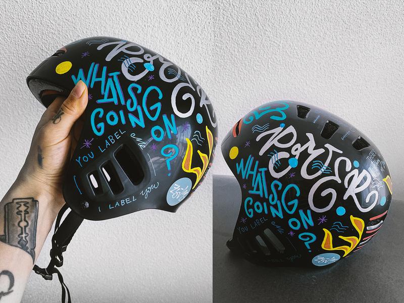 Helmet Art posca lettering design lettering art handmade type handmadefont handmade graffiti hand-lettering typography lettering