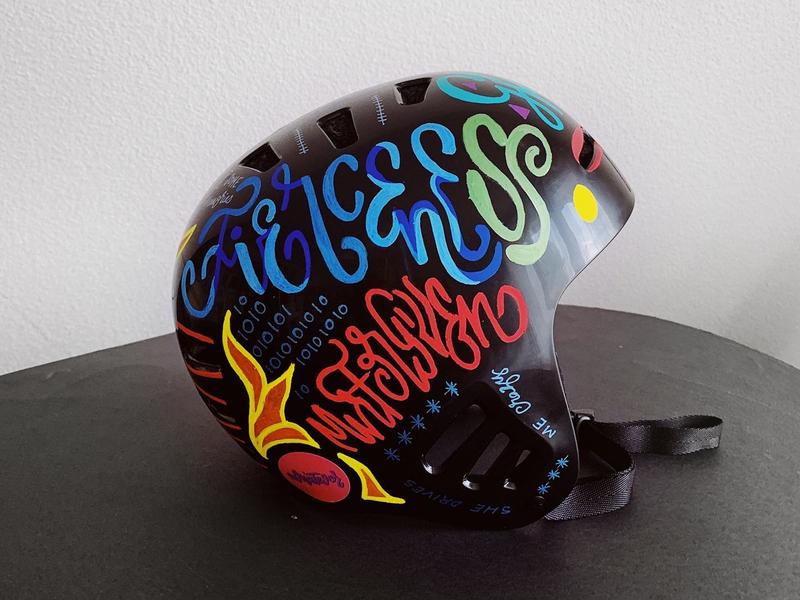 Helmet Art Details graffiti art handmade type handmade font handmade hand-lettering typography lettering