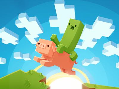 Minecraft illustration