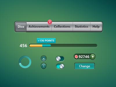 Dice Poker Game Interface
