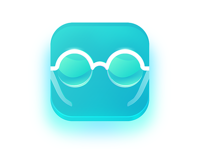 Glasses App Icon flat modern glass clean icon glasses app ios