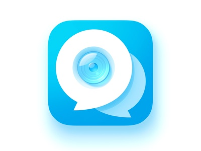 Video Chat Icon message camera flat clean ios icon chat video