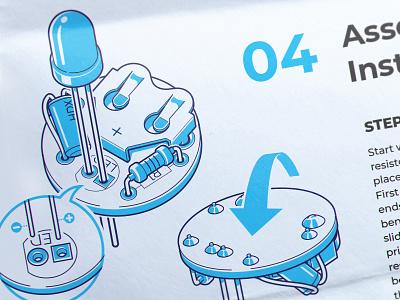 Solder Instruction scheme print illustration instruction solder