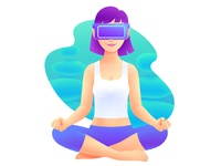 VR Headset Illustration 2