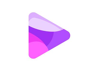 Happy Play Icon logo clean cute happy icon play