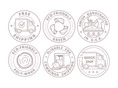 Handcrafted Furniture Seals wood icon vector seal store