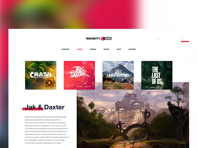Naughty Dog (redesign) by Vianney Tribolet | Dribbble | Dribbble