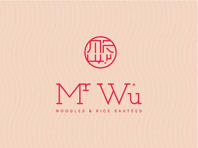 Mr Wu | Noodle Restaurant identity vector typography noodle rebranding restaurant monogram thai red design logo