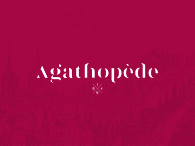 Agathopede | Gastronomic Restaurant identity hotel red gastronomy wine branding typography vector restaurant rebranding logo design