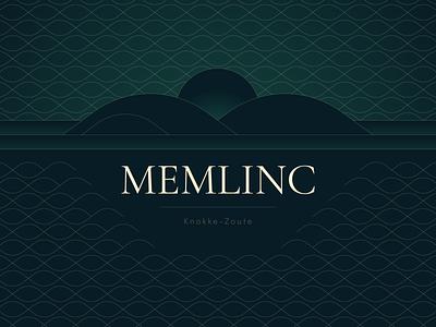 Memlinc Palace | Hotel**** in Knokke hotel pattern gradient knokke lines ivory green illustration rebranding typography logo design