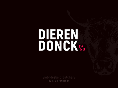 Dierendonck | Butchery branding butchery rebranding brown red typography logo design