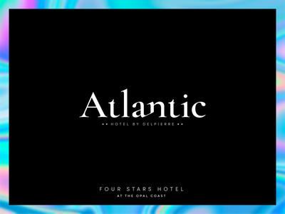 Atlantic | Hotel**** in Wimereux knokke hotel black branding iridescent typography logo design