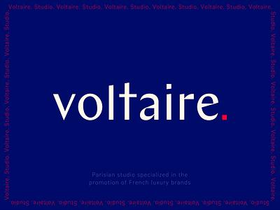 Chez Voltaire | Retouching Studio in Paris paris studio red ivory blue rebranding design typography logo