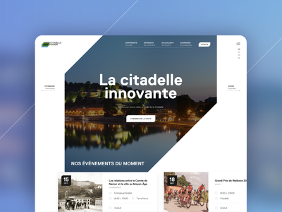Citadelle de Namur website culture patrimony namur belgium tourism ux webdesign typography ui ux-ui logo design