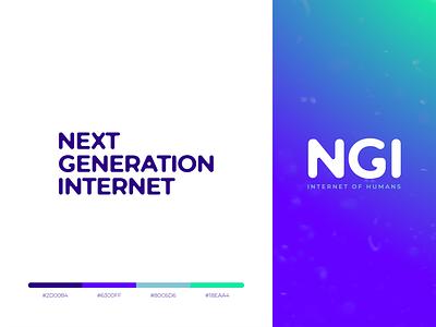 Next Generation Internet green blue variants colors gradient design gradient rebranding design logo