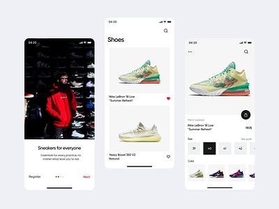E-commerce mobile ux shop e-shop shoes sneakers
