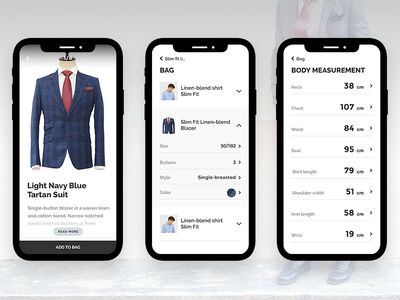 Factory CRM shopping e-commerce store jackets mobile ui ux flat clean app android ios