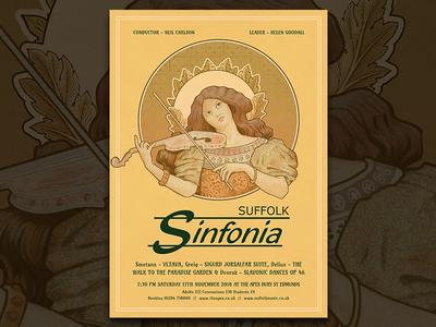 Suffolk Sinfonia Poster - Art Nouveau Style