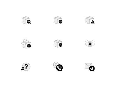 ecommerce Icons illustration symbol icons ecommerce person email call faq faq-icon eye cancel edit adjust return view track icon orders
