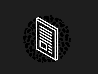 isometric icon - doc isometric book icon