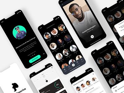 Black Lives Matter iOS App interface user interface ux design mobile app ui ux