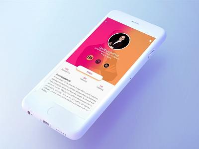User Profile rebound profile design profile design user interface hireme interface user experience dribble mockup
