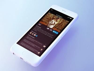 Social App dark theme adventure ui ux ui app social app social network social campaign media social