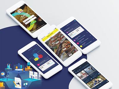 Food and Finance mockups interface trends social trend ui ux branding user experience illustration mockup