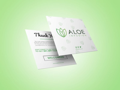Aloe Infusion Thank You Insert