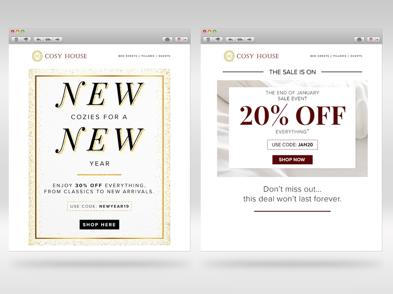 Email Creatives 2019 home goods email design email campaign marketing branding design