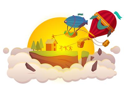 Wallapop Air Balloons wallapop balloons vector graphic app