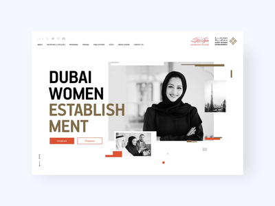Dubai Women Establishment Website 👩🏻 modern women website design web pages web interface web design ux user experience glitch minimalism design studio design