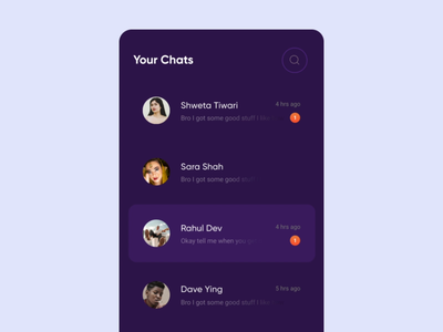Chingari Chats : Simple Pin Chat Interaction minimalist tinder your chats micro interaction minimal messenger tiktok chingari app india interaction phone messages message conversations pin microinteraction