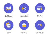Browse Credit Cards By Categories - Icons