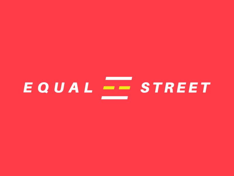 Equal Street minimal logo equal street art logo