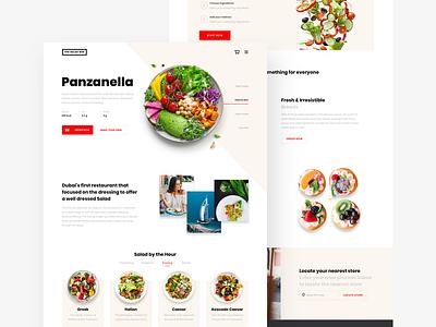 The Salad Bar — homepage 🥗 food app minimalist homepage design startup website web salad food homepage wood white light clean