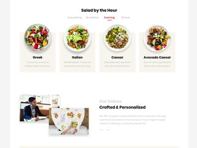The Salad Bar Website Interaction restaurant eat clean design interaction food salad lander minimal ux ui web website clean animation