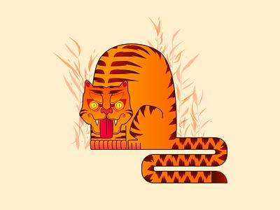 Tiger t-shirt tiger animal print vector illustration
