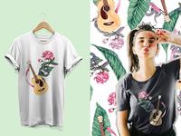 Guitar Positional T-Shirt Design