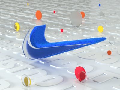 Nike Logo design animation art cinema4d logo3d nikelogo octanerender nike render 3d colorful c4d